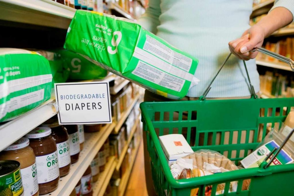 Biodegradable diapers; can they be recycled or composted?